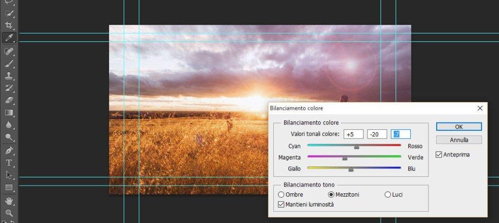 Bilanciamento del colore in post produzione