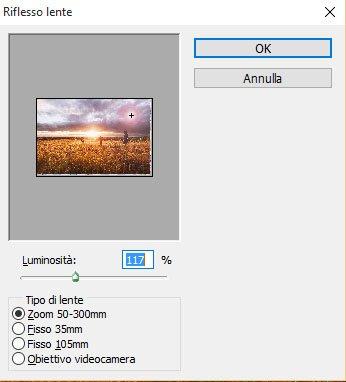 Applicare l'effetto Lens Flare