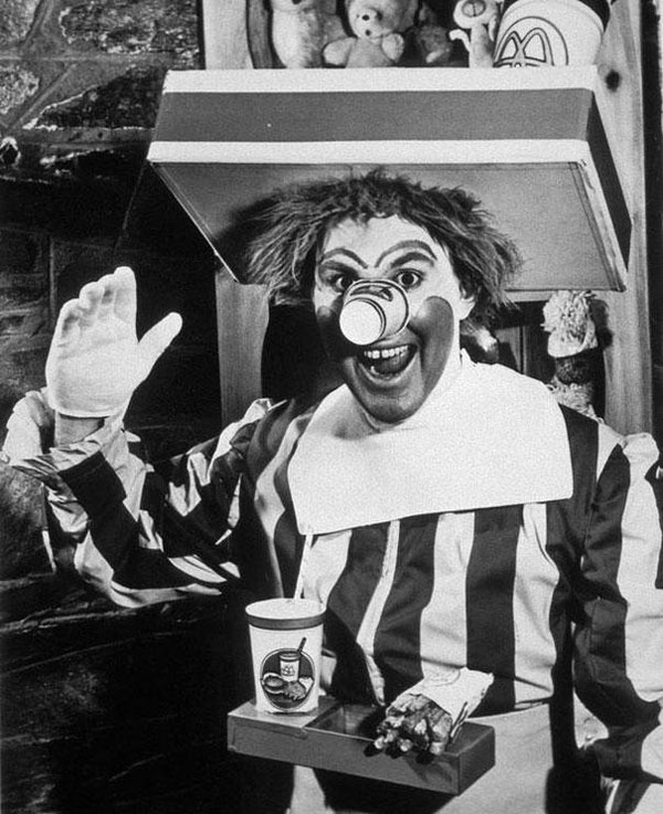 Una foto dell'originale Ronald McDonald del 1963