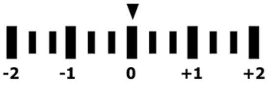 esposimetro di una fotocamera digitale