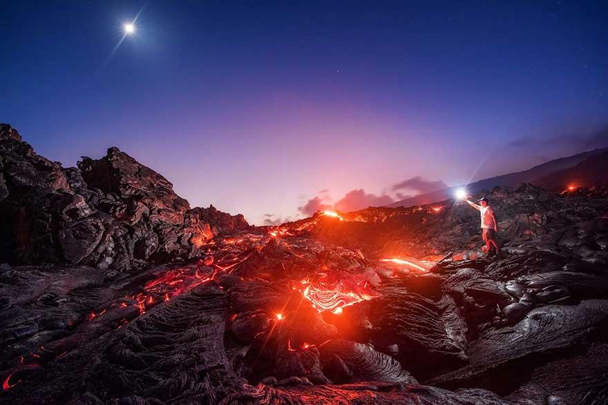 lava-milky-way-meteor-moon-mike-mezeul-ii-hawaii