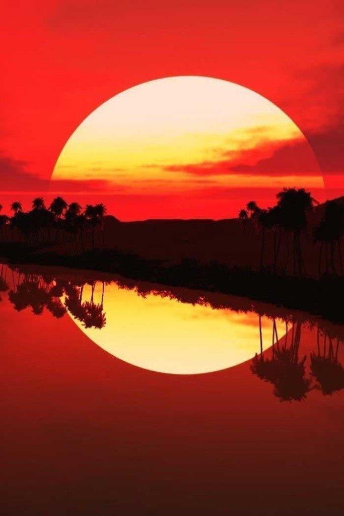 Riflesso del sole completo