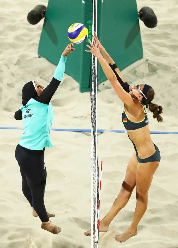 Incontro a Rio tra Germania e Egitto a Beach Volley