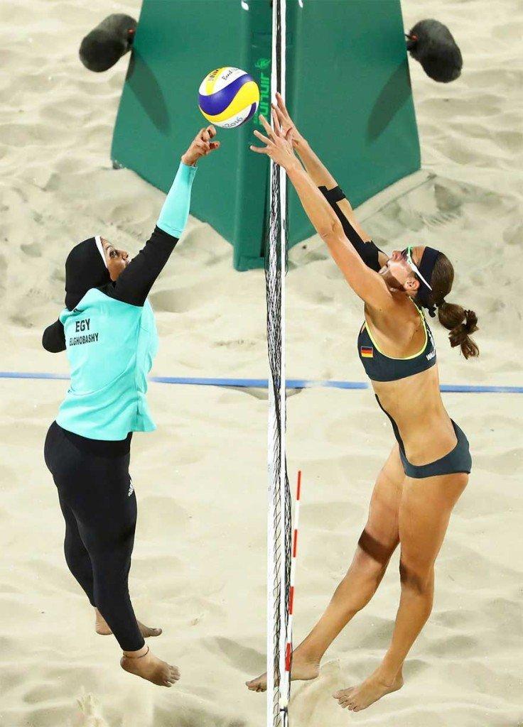 Incontro a Rio tra Germania e Egitto a Beach Volley