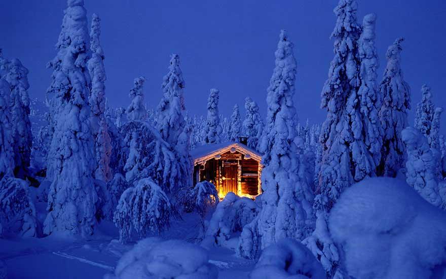 Natale in Lapponia, baita