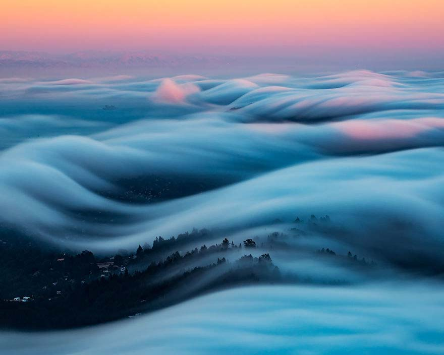 Nebbia in Lunga esposizione di Nicholas Steinberg a San Francisco
