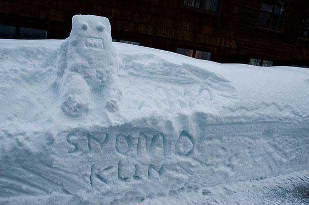 Idea creativa per pupazzo di neve