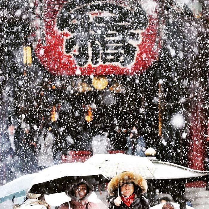 Tokyo con la neve di Uema