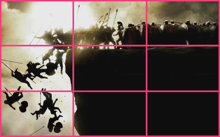 La composizione fotografica nel film: 300