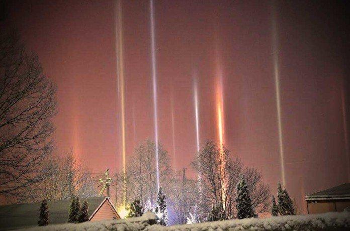 Light Pillars, cosa sono i Pilastri di luce