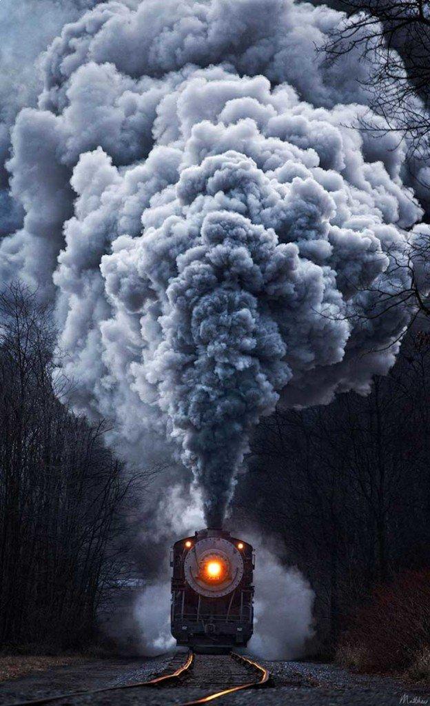 Fotografia Treni in viaggio di Matthew Malkiewicz