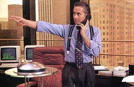 Michael Douglas in Wall Street
