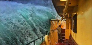 La grande onda a Sidney, fotografia di Haig Gilchrist