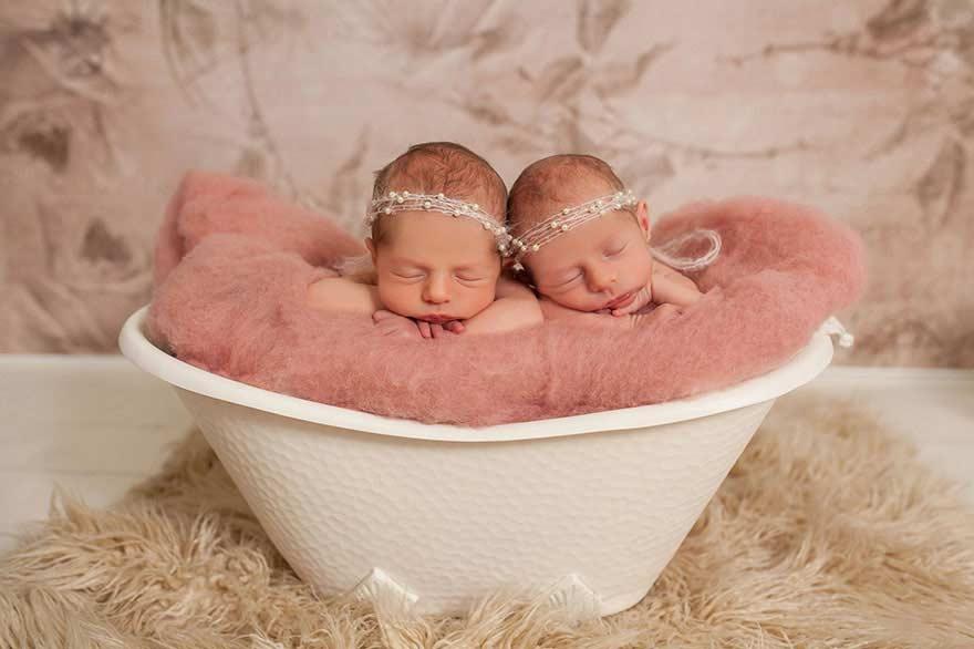 Servizio fotografico delle 2 coppie di gemelli