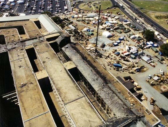 Foto del disastro al Pentagono