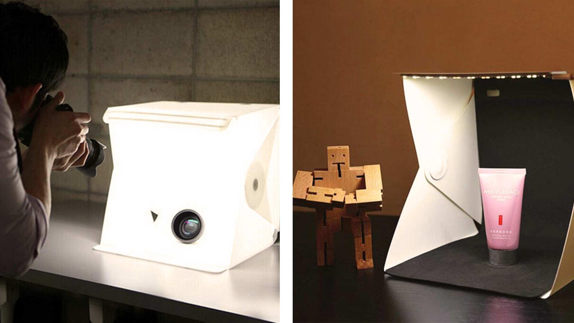 Studio fotografico portatile con illuminazione led fotografia
