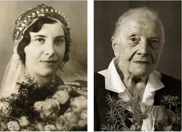 Signora dopo 100 anni in foto
