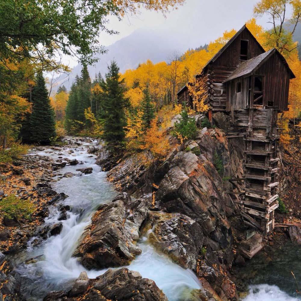 Crystal Mill, Colorado, Stati Uniti, foto di © Il Denver City