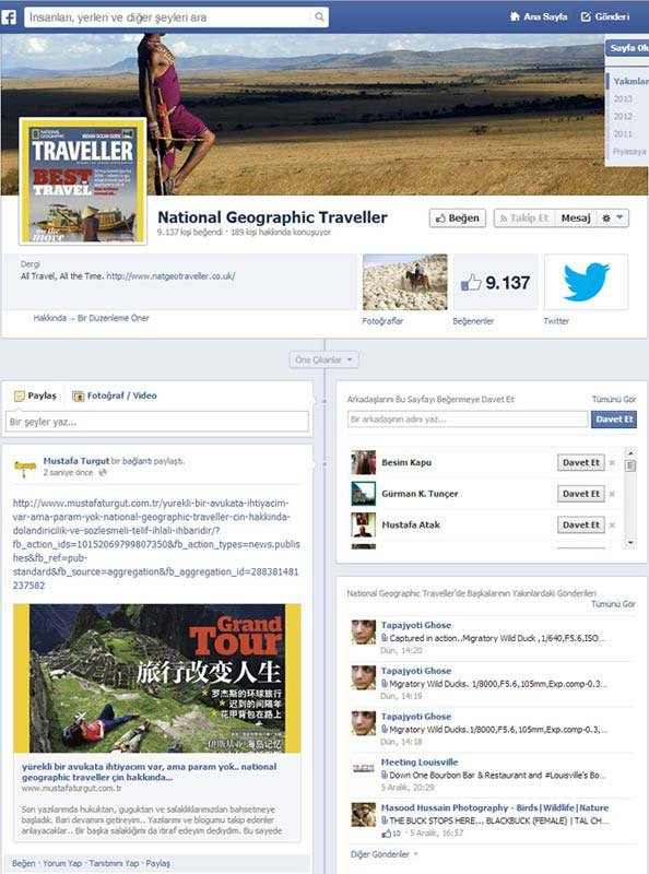 Facebook National Geographic Travel Cina