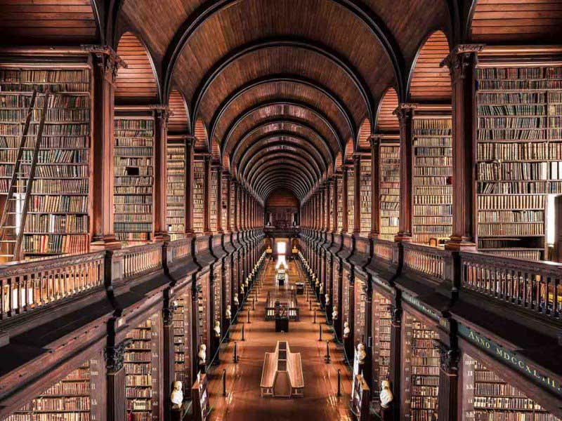 Libreria Trinity College,Dublino,1732