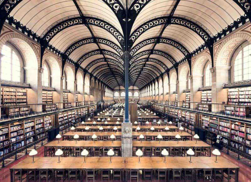 Biblioteca Sainte Genevieve, Paris, 1850