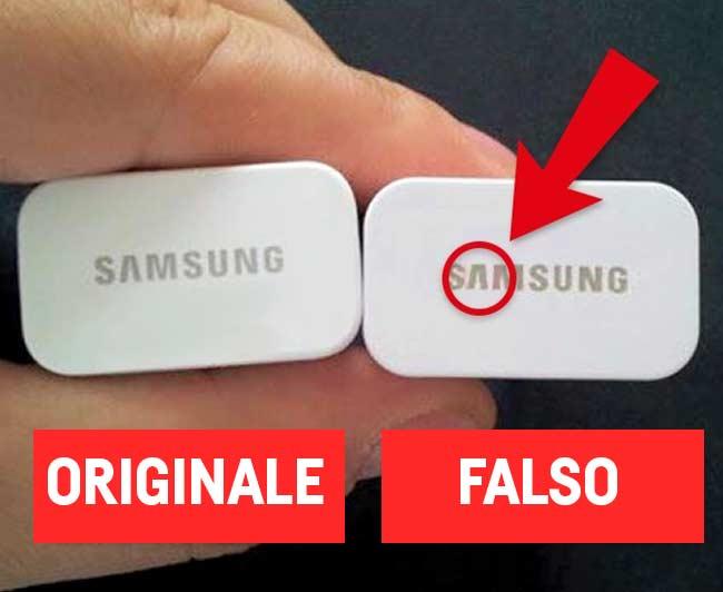Riconoscere un caricabatterie Samsung imitazione