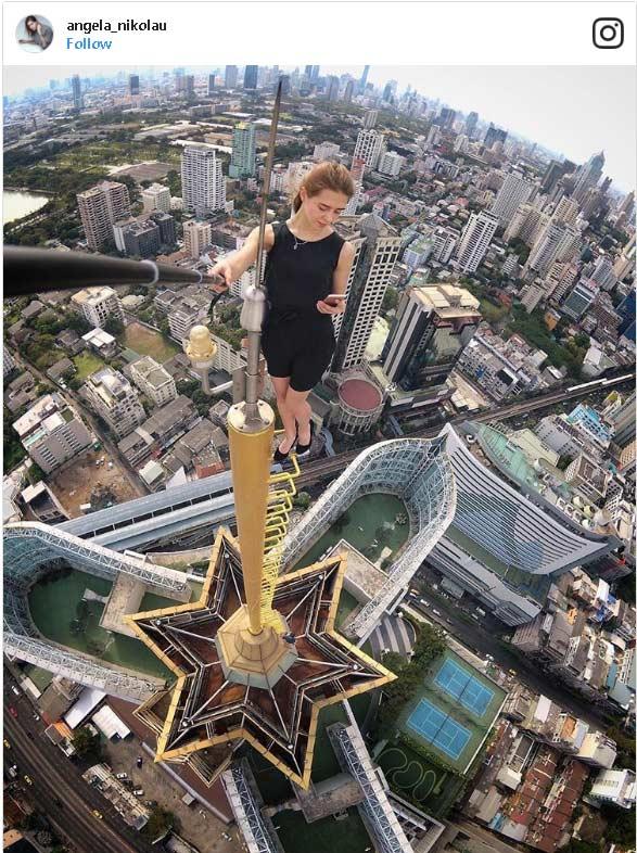 Selfie estremi dal grattacielo