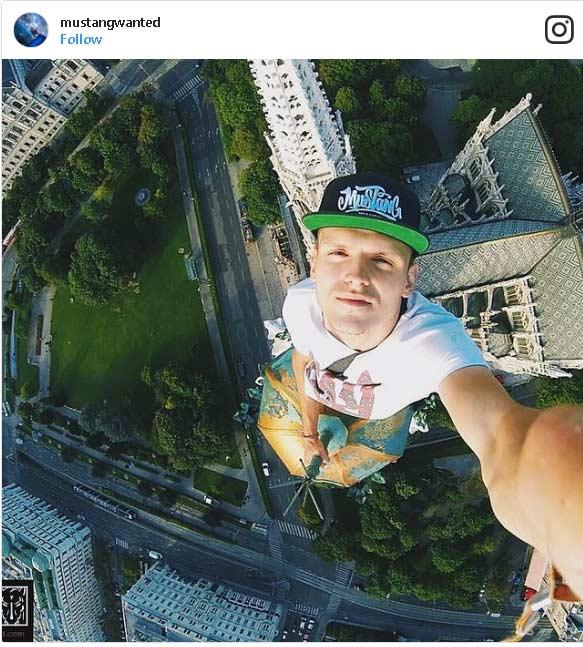 Grattacielo e selfie
