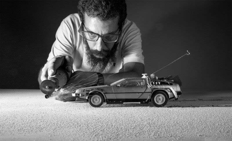 Backstage DeLorean di Ritorno al Futuro, foto di Felix Hernandez