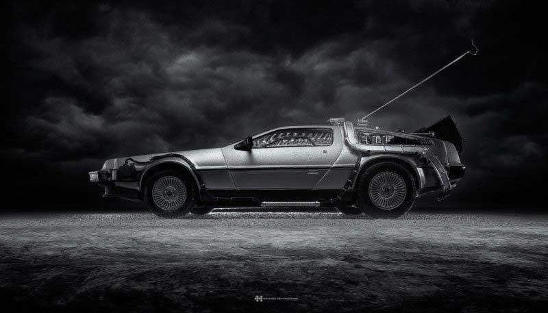 DeLorean di Ritorno al Futuro, foto di Felix Hernandez