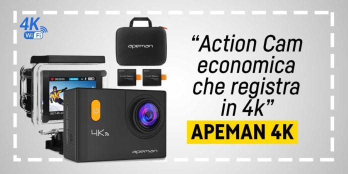 Apeman 4k, Action Cam economica