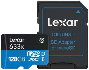 Micro Sd della Lexar da 128 Gb al miglior prezzo
