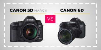 Canon 5D Mark III vs Canon 6D