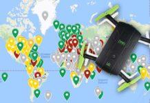 Mappa mondiale regolamento volo droni
