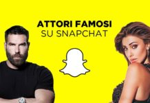 Attori famosi su Snapchat
