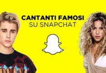 Lista dei cantanti che hanno Snapchat