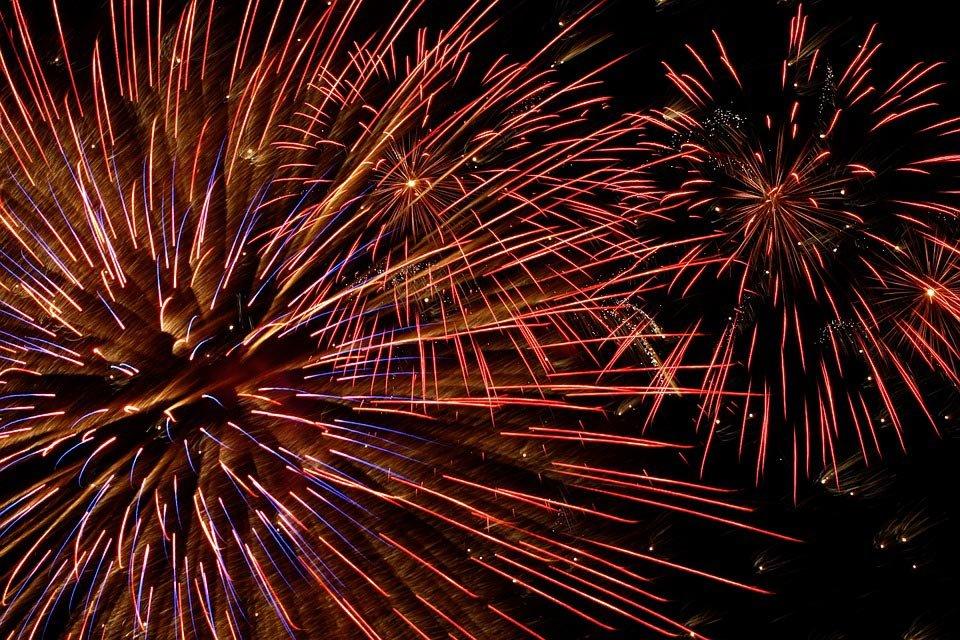 Modalità Bulb, fuochi d'artificio