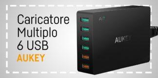 Caricatore Multiplo USB Aukey