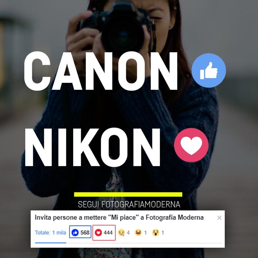 Canon o Nikon, Nikon vs Canon