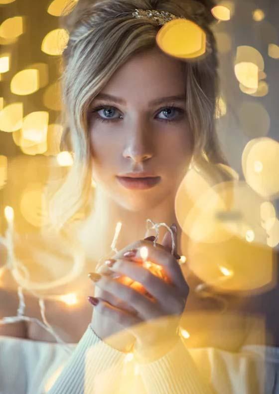 Irene Rudnyk e le luci di natale