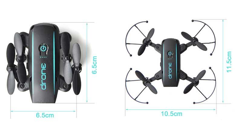 Linxtech IN1601, mini drone giocattolo dimensioni