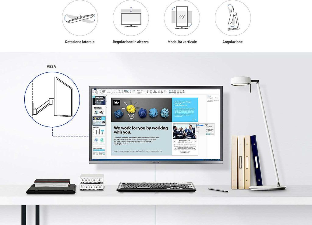 Samsung U32H850 regolabile