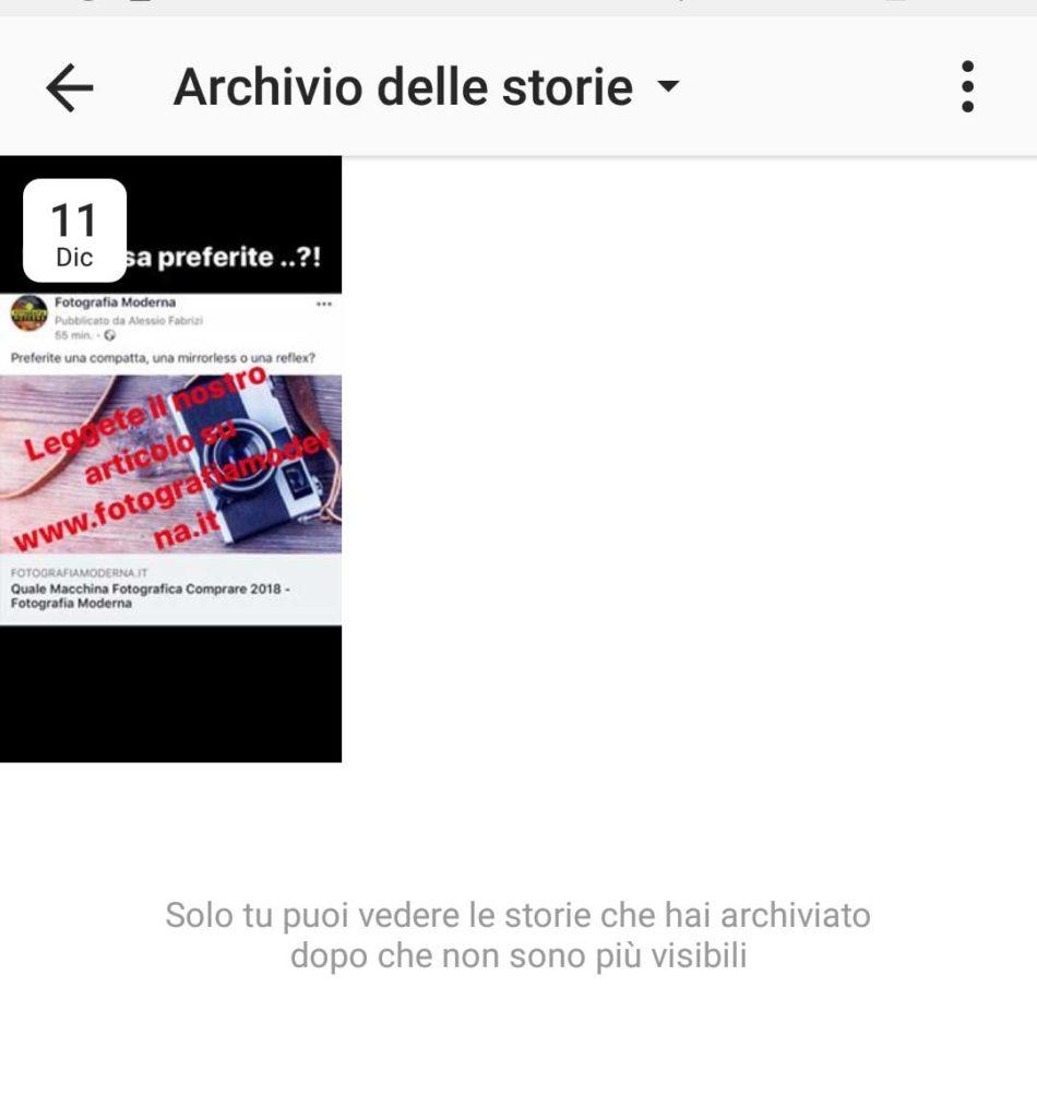 Archivio Instagram, le storie