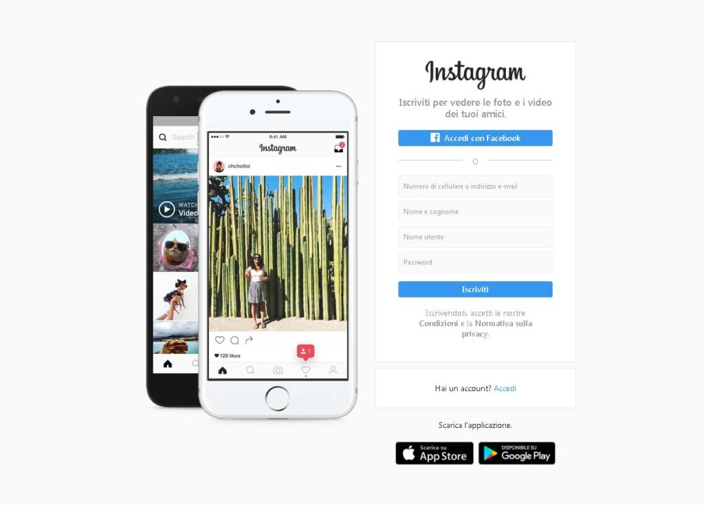 Instagram Accedi