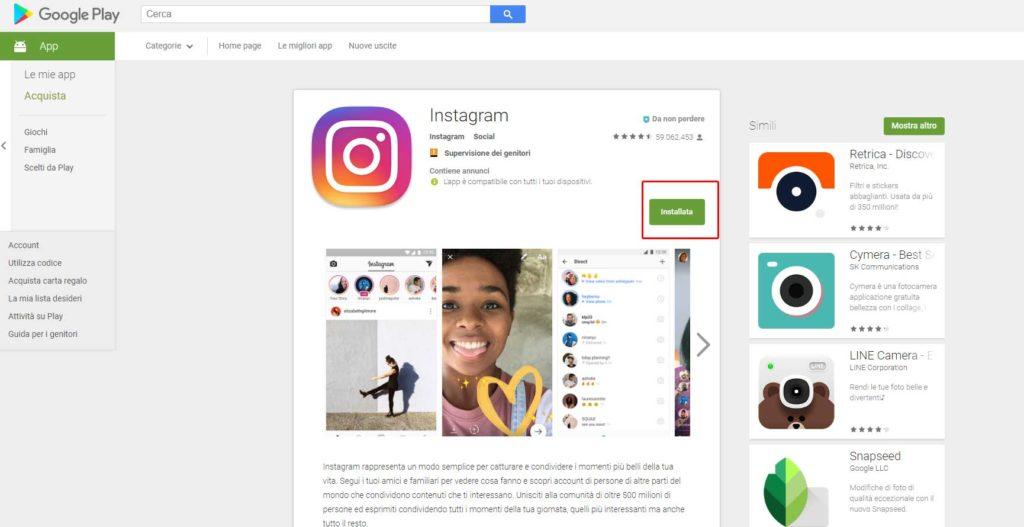 Instagram introduce la modalità