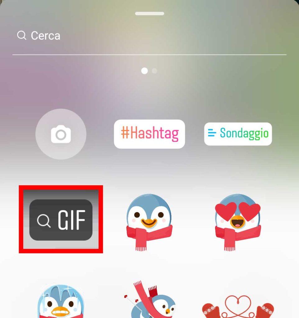 Caricare GIF su Instagram Stories