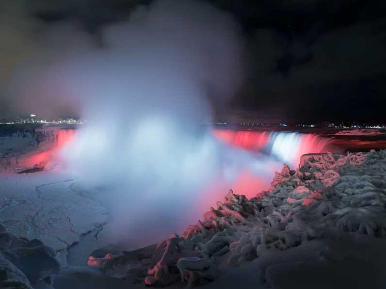 Fotografie cascate del Niagara gelate di Adam Klekotka
