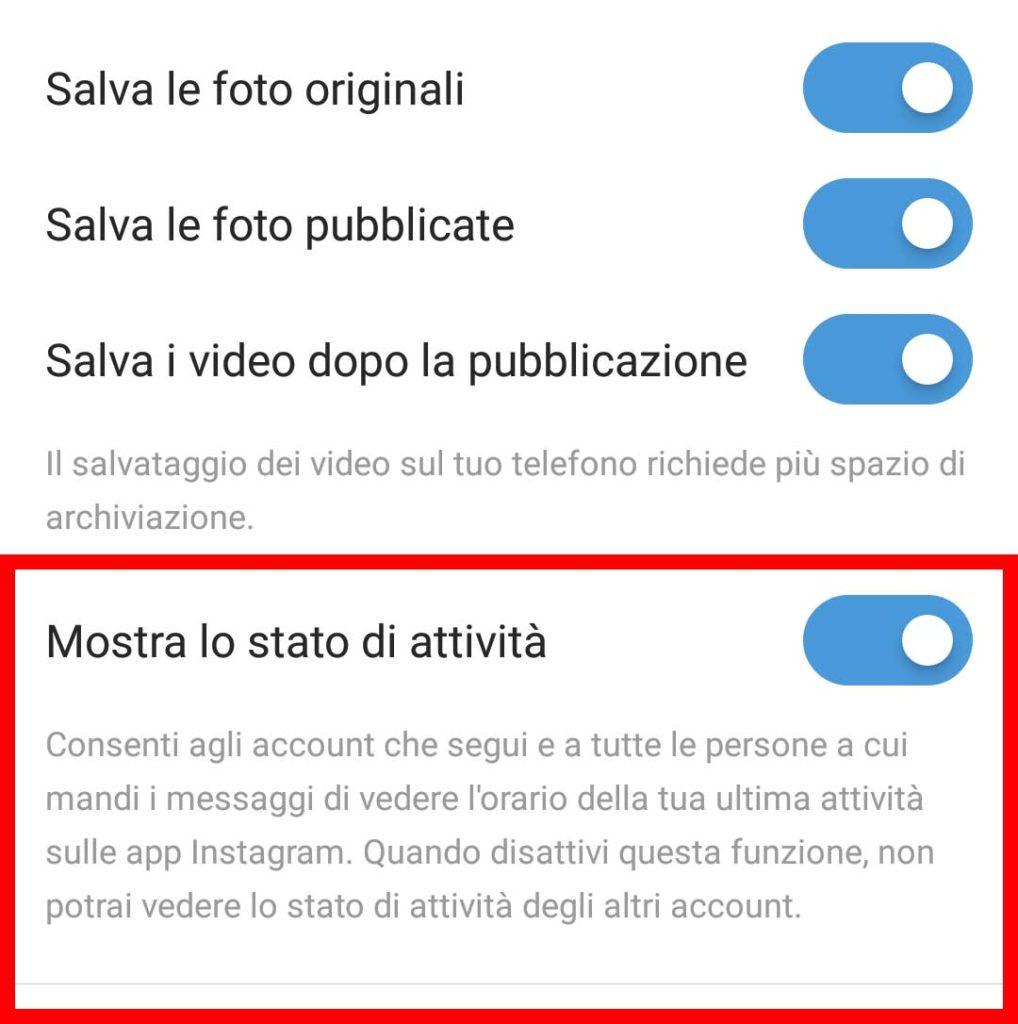 Come vedere ultimo accesso su Instagram