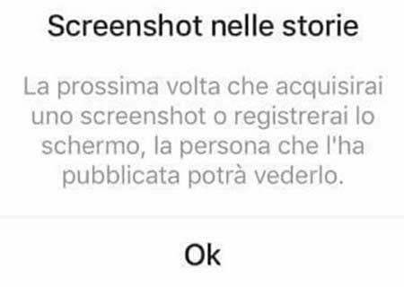 L'aggiornamento Instagram Screenshot