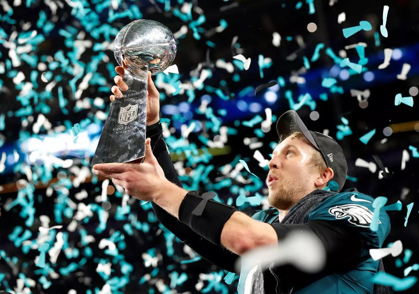 Il quarterback di Philadelphia Eagles Nick Foles